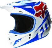 Мотошлем Fox V1 Race Helmet Blue