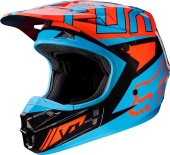 Мотошлем Fox V1 Falcon Helmet Grey/Red